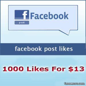 1000 facebook post likes
