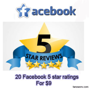 buy 20 facebook page ratings