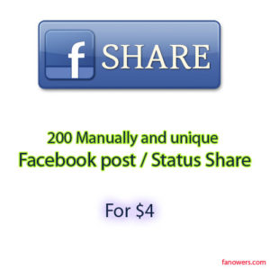 purchase 200 FB post share