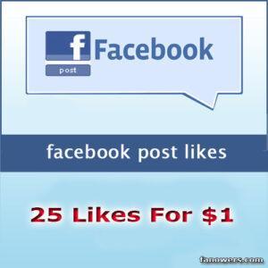 buy 25 facebook post likes