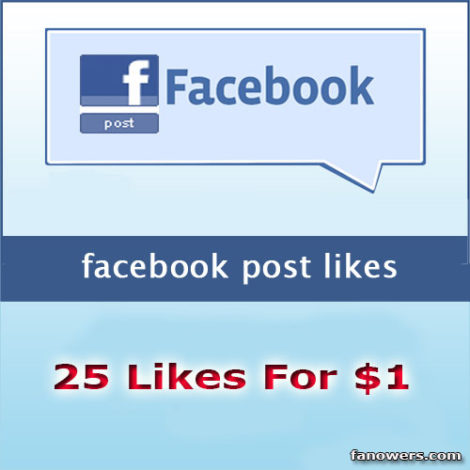 buy 25 facebook post likes