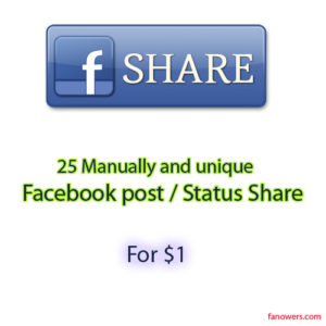 buy 25 facebook post share