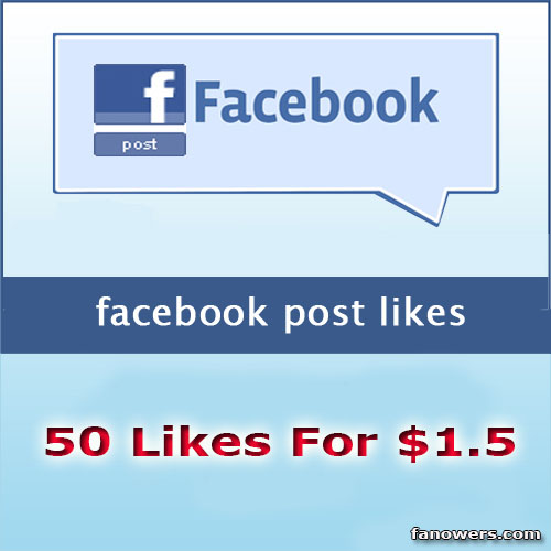 Buy 50 FB Post Likes
