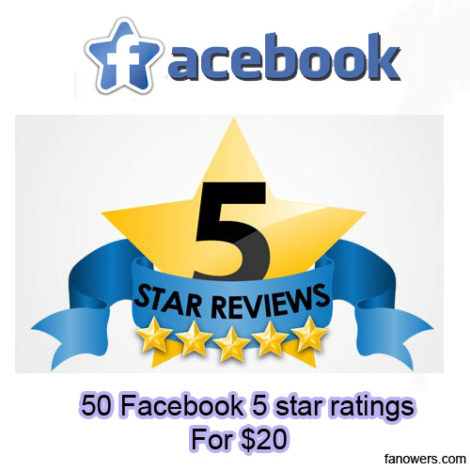 buy 50 FB page ratings and reviews