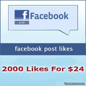buy 2000 FB post status likes
